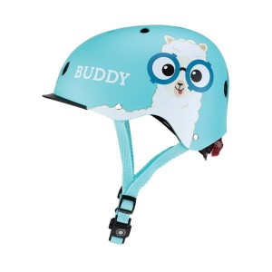 Kask Globber Elite Lights Sky Blue Buddy XS/S z lampką LED