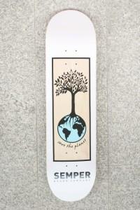 "Deck Semper Planet blue 8,125"" + grip"