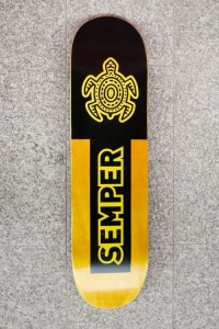 "Deck Semper Turtle Yellow 8,25"" + grip"